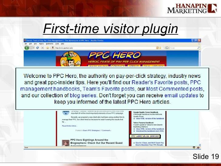 First-time visitor plugin Slide 19