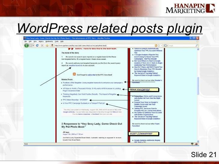 WordPress related posts plugin Slide 21