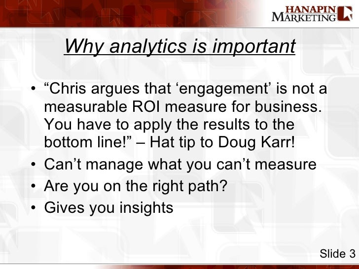 """<ul><li>""""Chris argues that 'engagement' is not a measurable ROI measure for business. You have to apply the results to the..."""