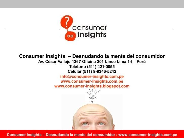 El pollo a la brasa insights del consumidor for Telefono oficina del consumidor