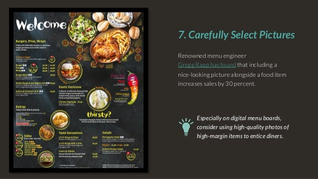 8 tips for effective menu design