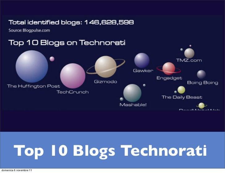 Top 10 Blogs Technoratidomenica 6 novembre 11