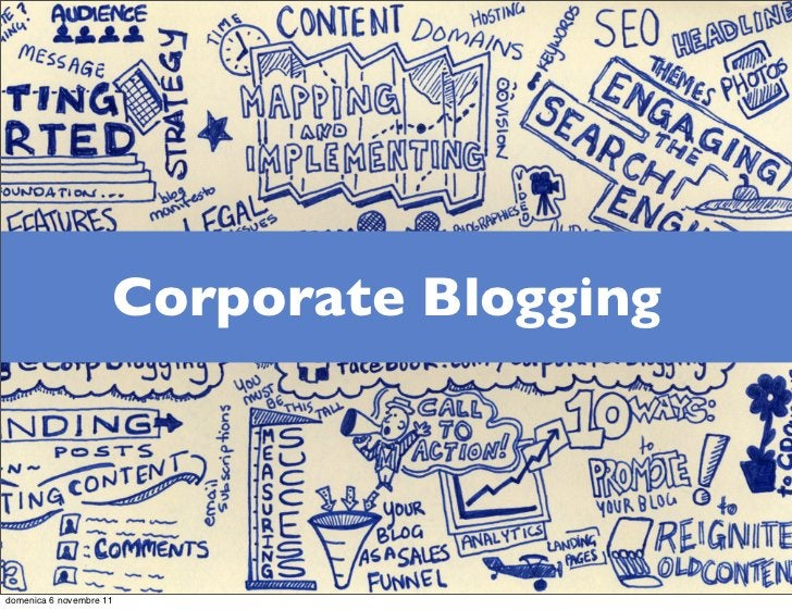 Corporate Bloggingdomenica 6 novembre 11