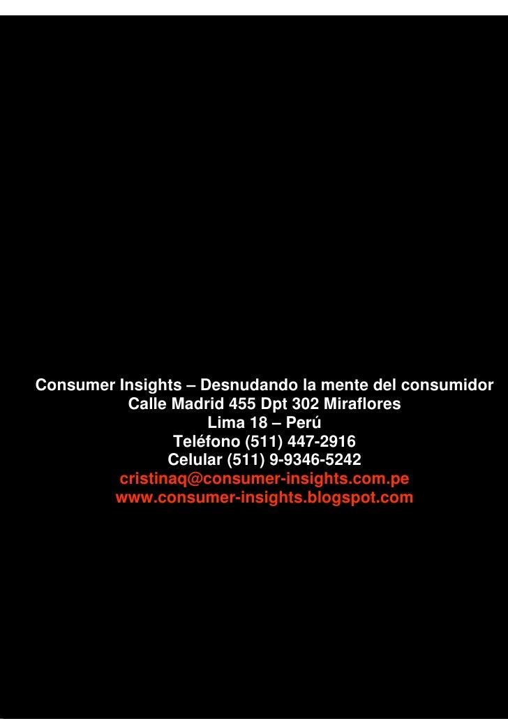 Soy una psic loga del consumo y no una manipuladora de for Telefono oficina del consumidor