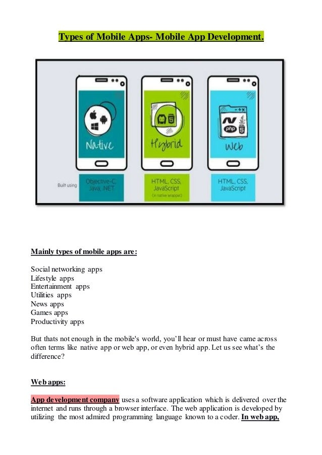 what is the difference between mobile application