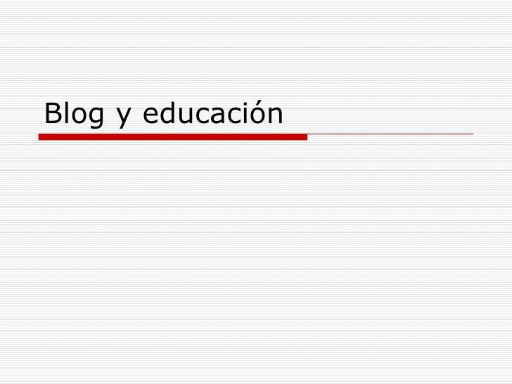 Blog y educación