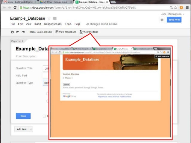 Blog12: Google Form (Database)