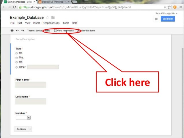 Blog13: How to share Google Form with your blog