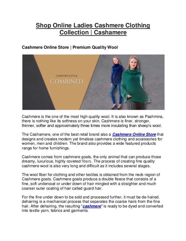 factory authentic b9606 ab120 Shop Online Ladies Cashmere Clothing Collection | Cashamere