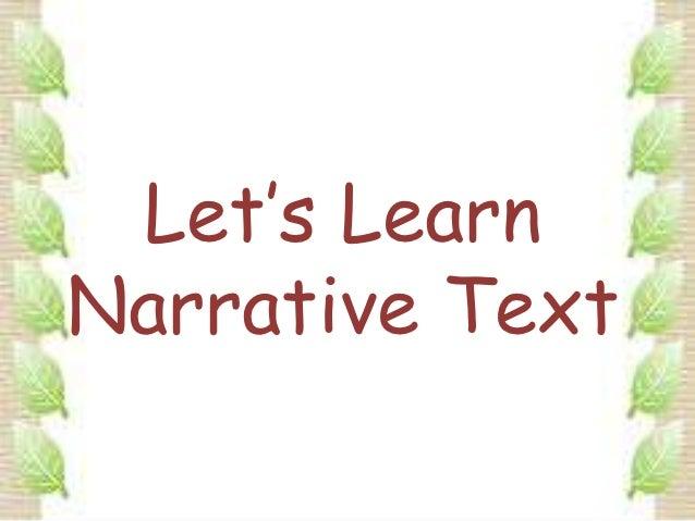 Let's LearnNarrative Text