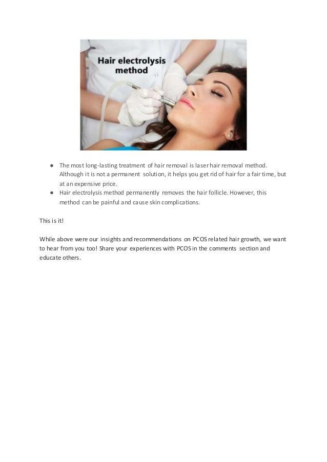 Treatment hair pcos facial Doctor suspecting