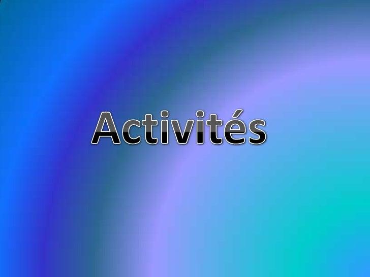 Activités<br />