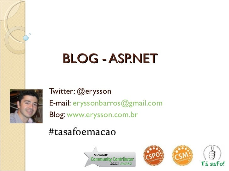 Blog em ASP.NET