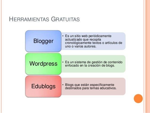 HERRAMIENTAS GRATUITAS                  • Es un sitio web periódicamente                    actualizado que recopila      ...