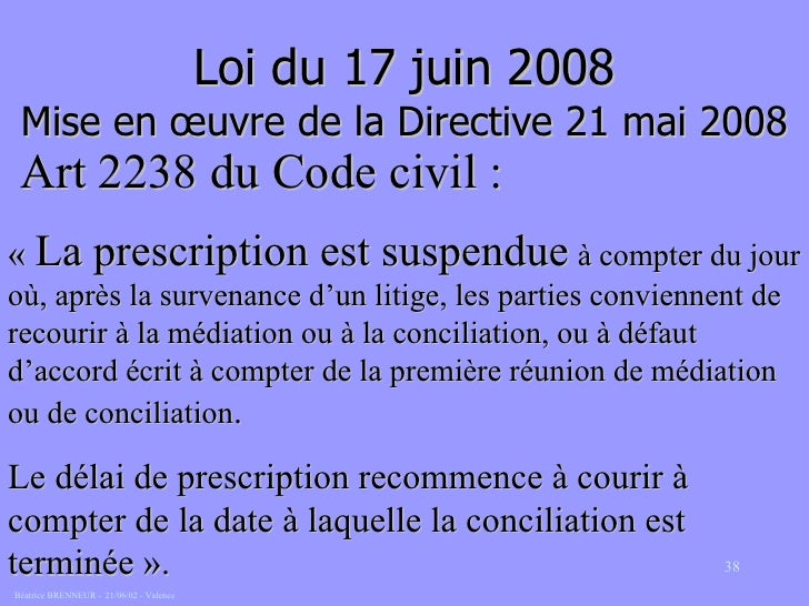 La medition prud 39 homale - Prescription trentenaire code civil ...