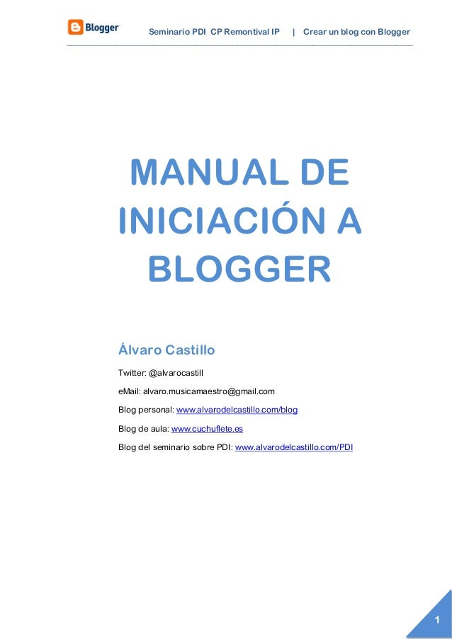 Seminario PDI CP Remontival IP | Crear un blog con Blogger________________________________________________________________...
