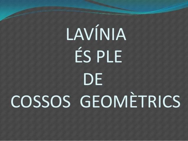 LAVÍNIAÉS PLEDECOSSOS GEOMÈTRICS