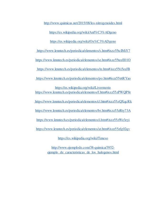 Carbonoideosnitrogenoideosanfigenos y halogenos 23 urtaz Image collections