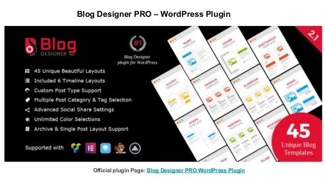 Blog Designer PRO – WordPress Plugin