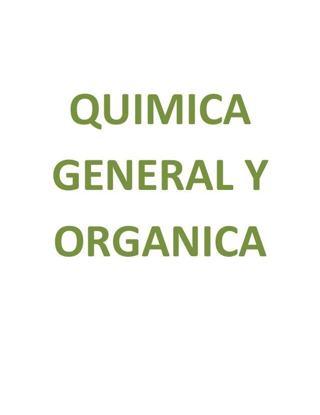 QUIMICA GENERAL Y ORGANICA