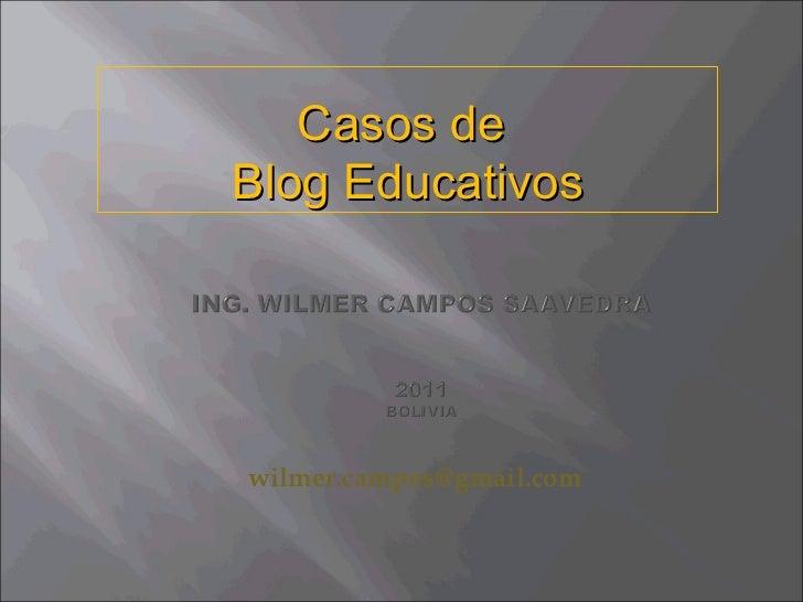 [email_address]   Casos de  Blog Educativos
