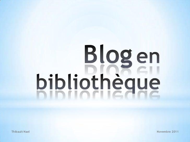 Thibault Nael   Novembre 2011