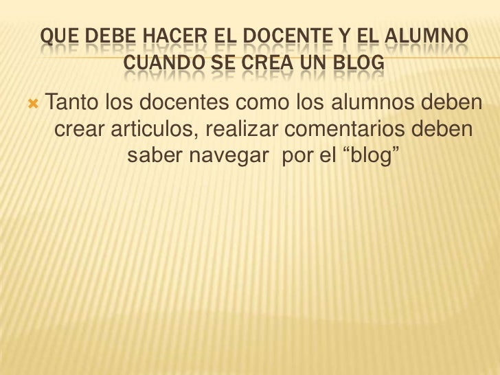 Blog en forma individual Slide 3