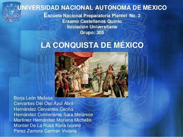 UNIVERSIDAD NACIONAL AUTONOMA DE MEXICO Escuela Nacional Preparatoria Plantel No. 2 Erasmo Castellanos Quinto Iniciación U...