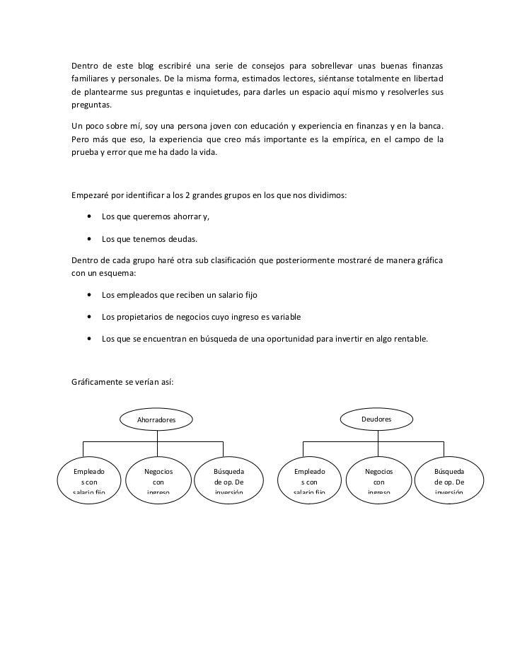 Blog finanzas pers