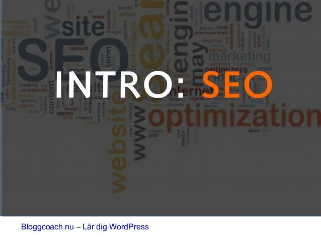 INTRO: SEO Bloggcoach.nu – Lär dig WordPress