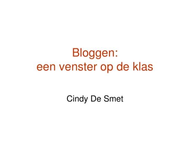 Bloggen, een venster op de klas