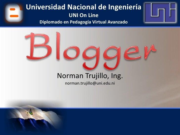 Universidad Nacional de Ingeniería                 UNI On Line     Diplomado en Pedagogía Virtual Avanzado                ...
