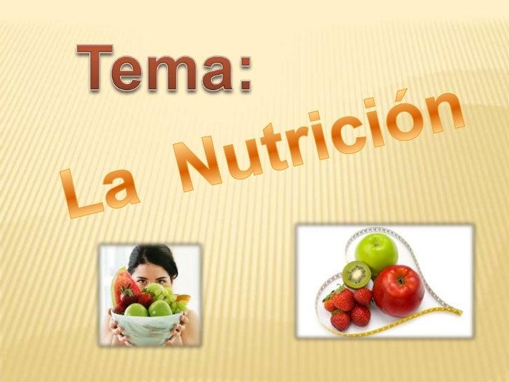 La nutrición es la encargada dealimentos variados en pocasporciones    y    tratando   demantener en forma y sinenfermedad...