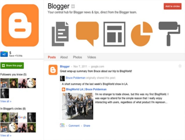 Blogger Important Events!