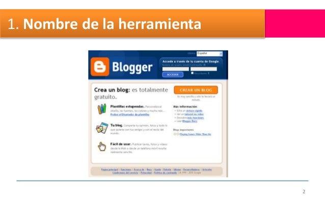Blogger documento Slide 2