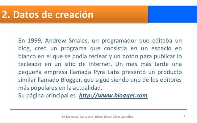 Blogger documento Slide 3