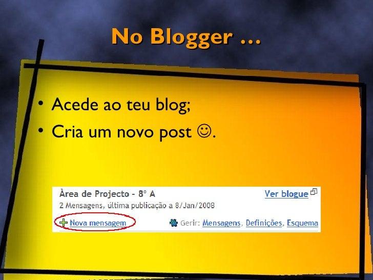 Blogger - Inserir Video Slide 3