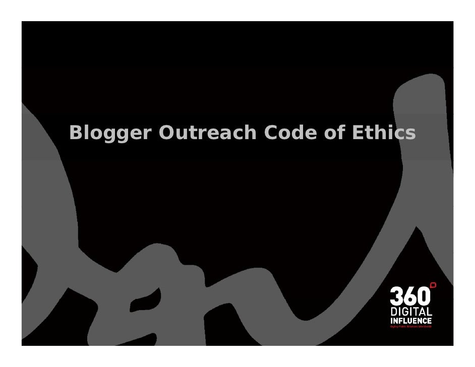 Blogger Outreach Code of Ethics