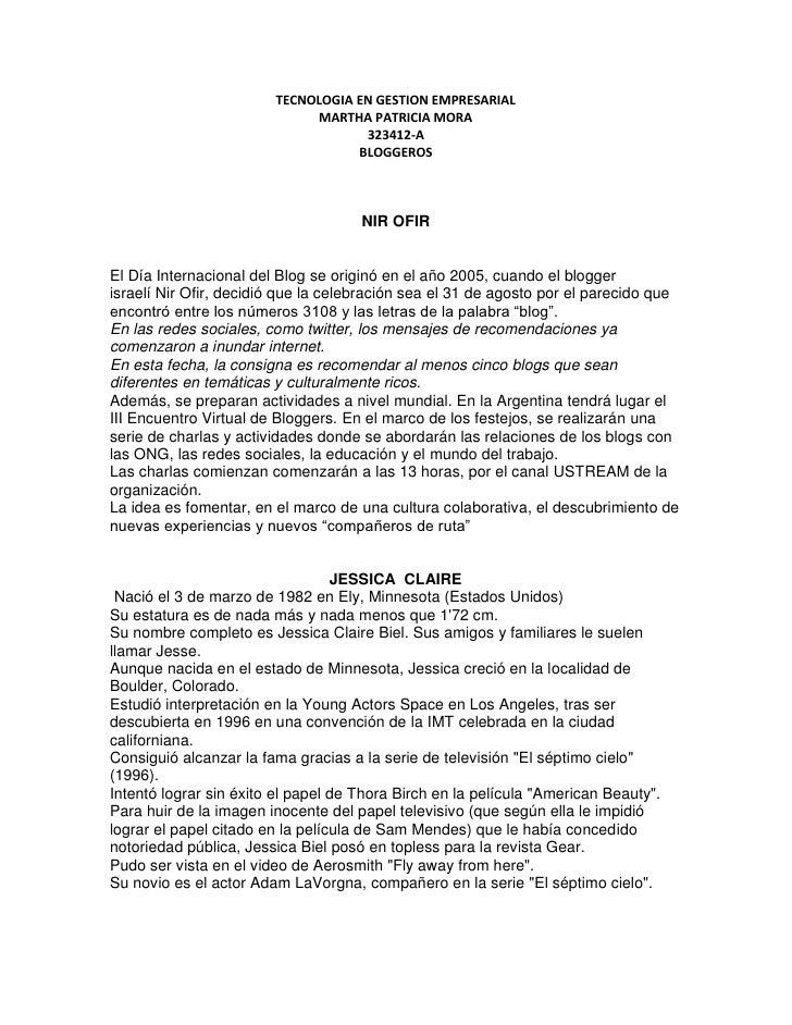 TECNOLOGIA EN GESTION EMPRESARIAL                             MARTHA PATRICIA MORA                                    3234...