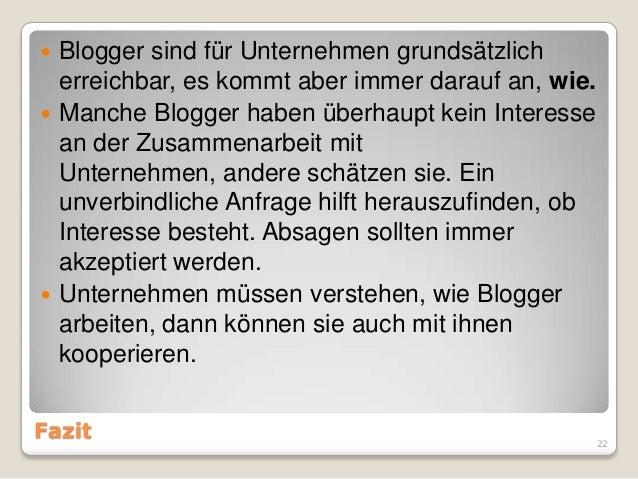 Blogger Relations Ba Ergebnisse