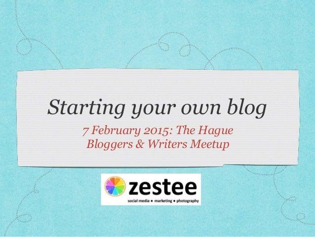 Writers meetup