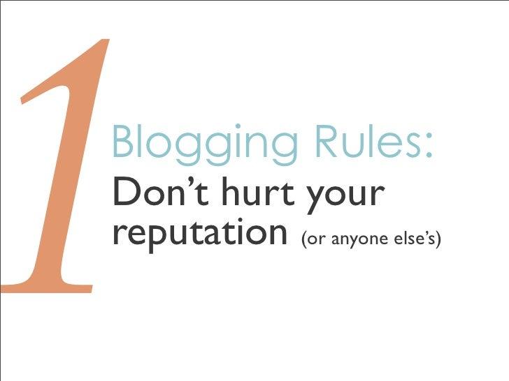 Blogging & Managing your Personal Brand Slide 2