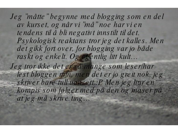Blogging Slide 2