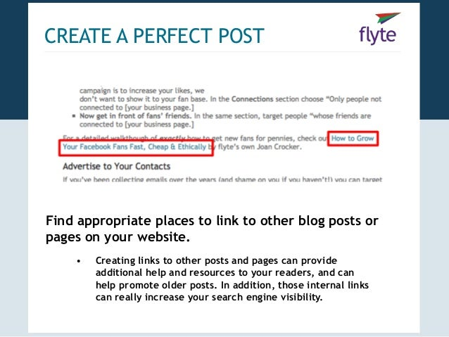 Blogging blueprint how to create promote the perfect post 15 create a perfect postfind appropriate places to link to other blog posts malvernweather Images