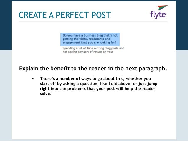 Blogging blueprint how to create promote the perfect post 7 create a perfect malvernweather Images