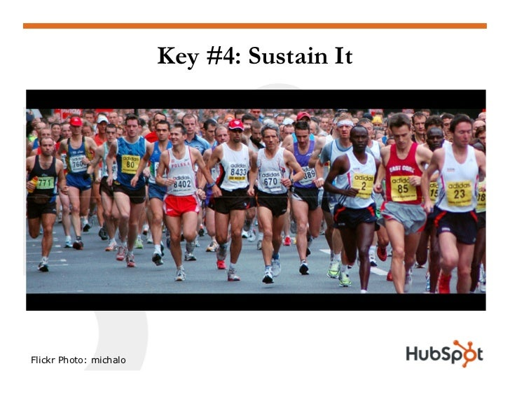 Key #4: Sustain It     Flickr Photo: michalo