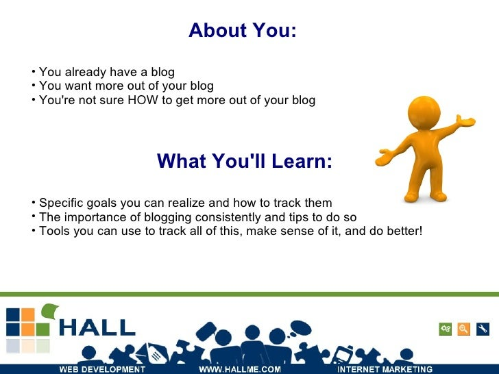 About You: What You'll Learn: <ul><li>Specific goals you can realize and how to track them </li></ul><ul><li>The importanc...