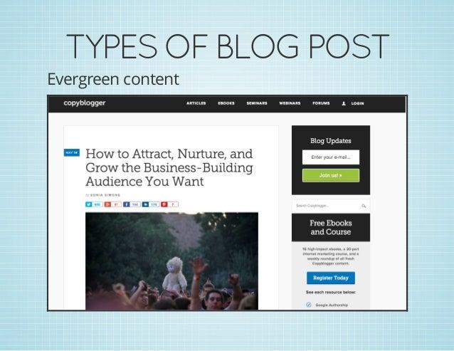 TYPESOFBLOGPOST Evergreen content