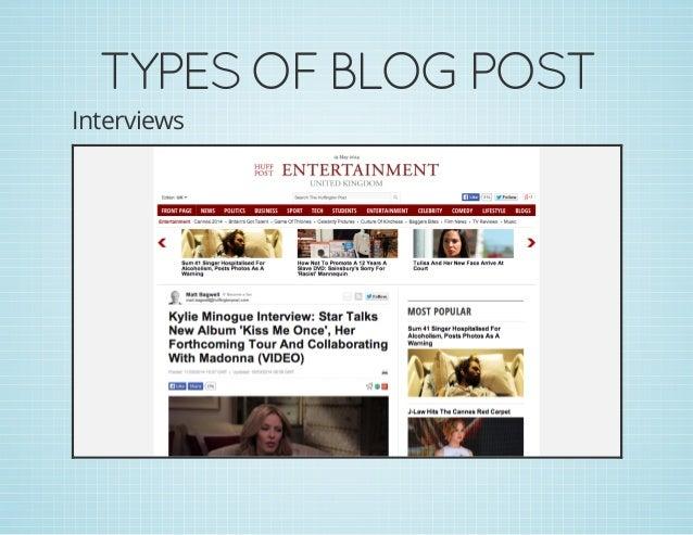 TYPESOFBLOGPOST Interviews