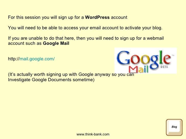 Blogging in Schools Slide 2